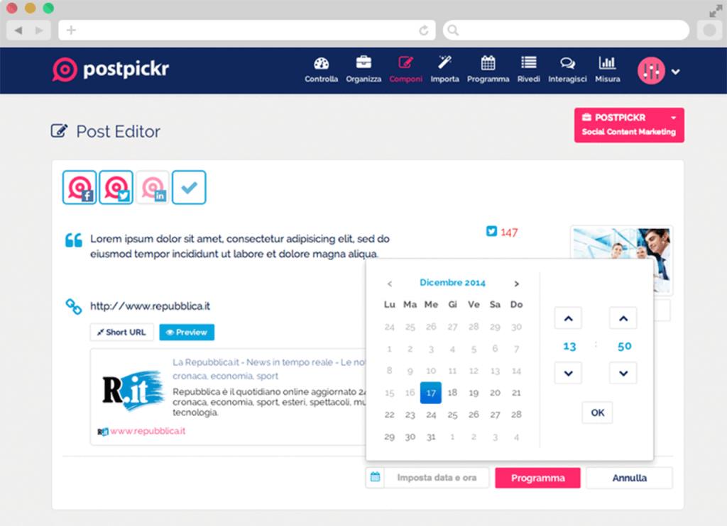 Postpickr - La programmazione dei post