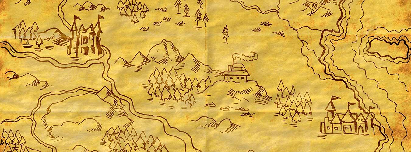 Creare una mappa fantasy l 39 ispirazione servita for Disegnare una piantina