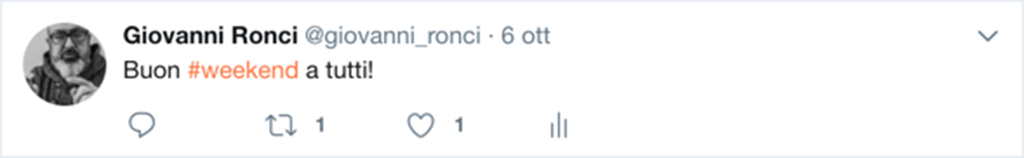 Esempio di Tweet