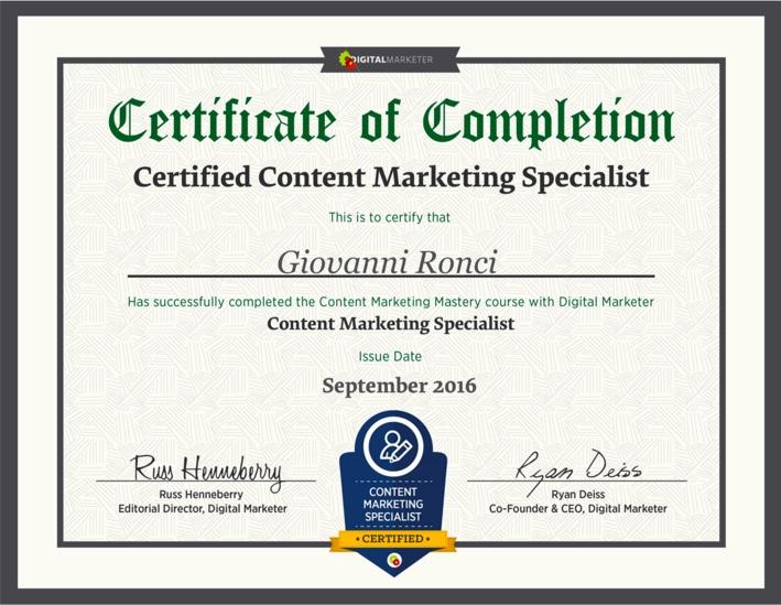 Content Marketing Specialist - Digital Marketer
