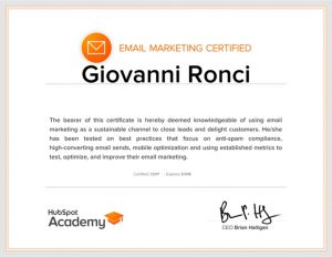 Email Marketing Certified Professional