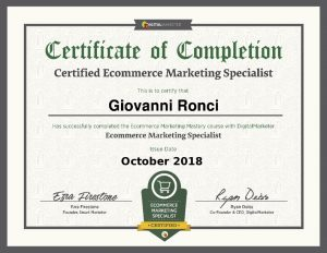 Certificazione ecommerce marketing specialist