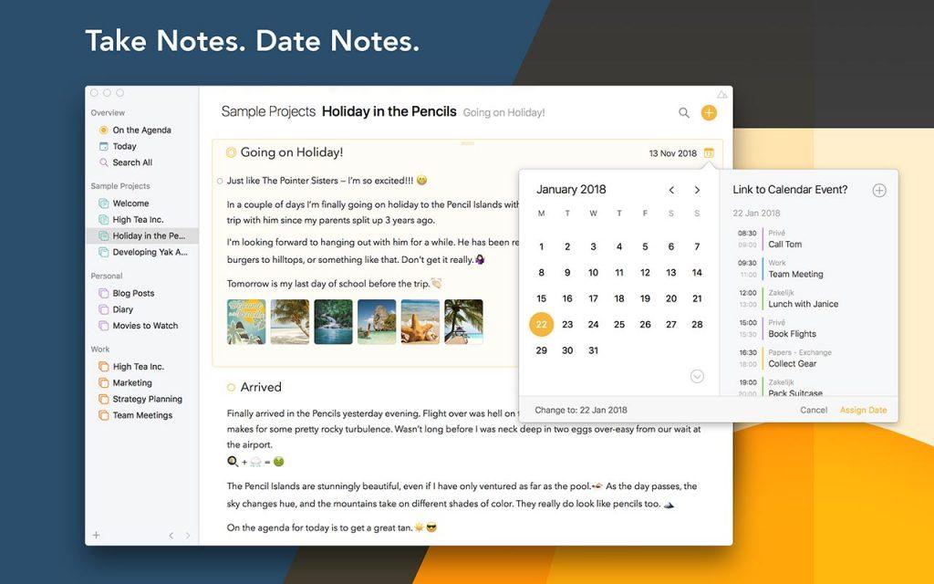 Prendere appunti - Agenda App
