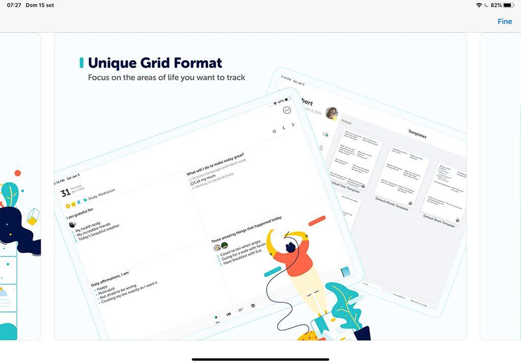 Grid diary 2 - Journaling App