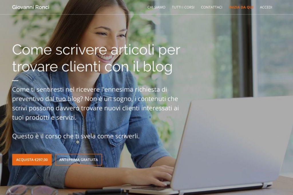 Corso contenuti blog