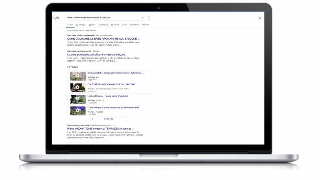 Come funziona un blog: risponde alle ricerche su Google: ecco la SERP, pagina dei risultati di ricerca.
